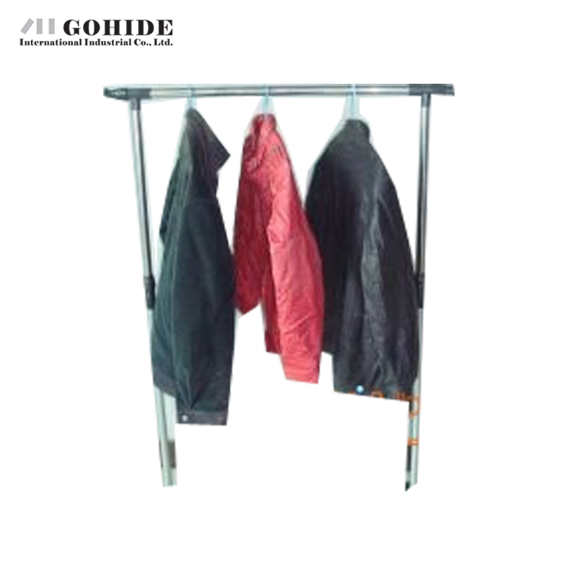 Gohide Indoor Hanger Single Folding Drying Rack Hanger Stainless Steel Wheels Belt Coat Racks Shoe Rack Shelf Coat Hanger