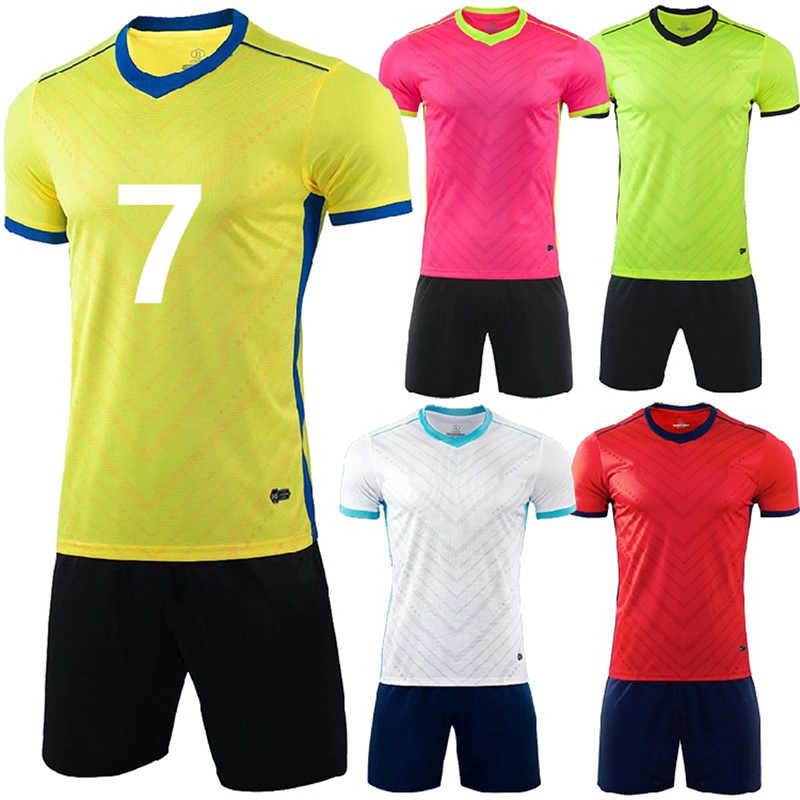 d53b0783 Jogging Homme Survetement Football 2019 Kids Men Soccer Jersey Set Blank  Soccer Team Training Suit Breathable Soccer Kit Uniform