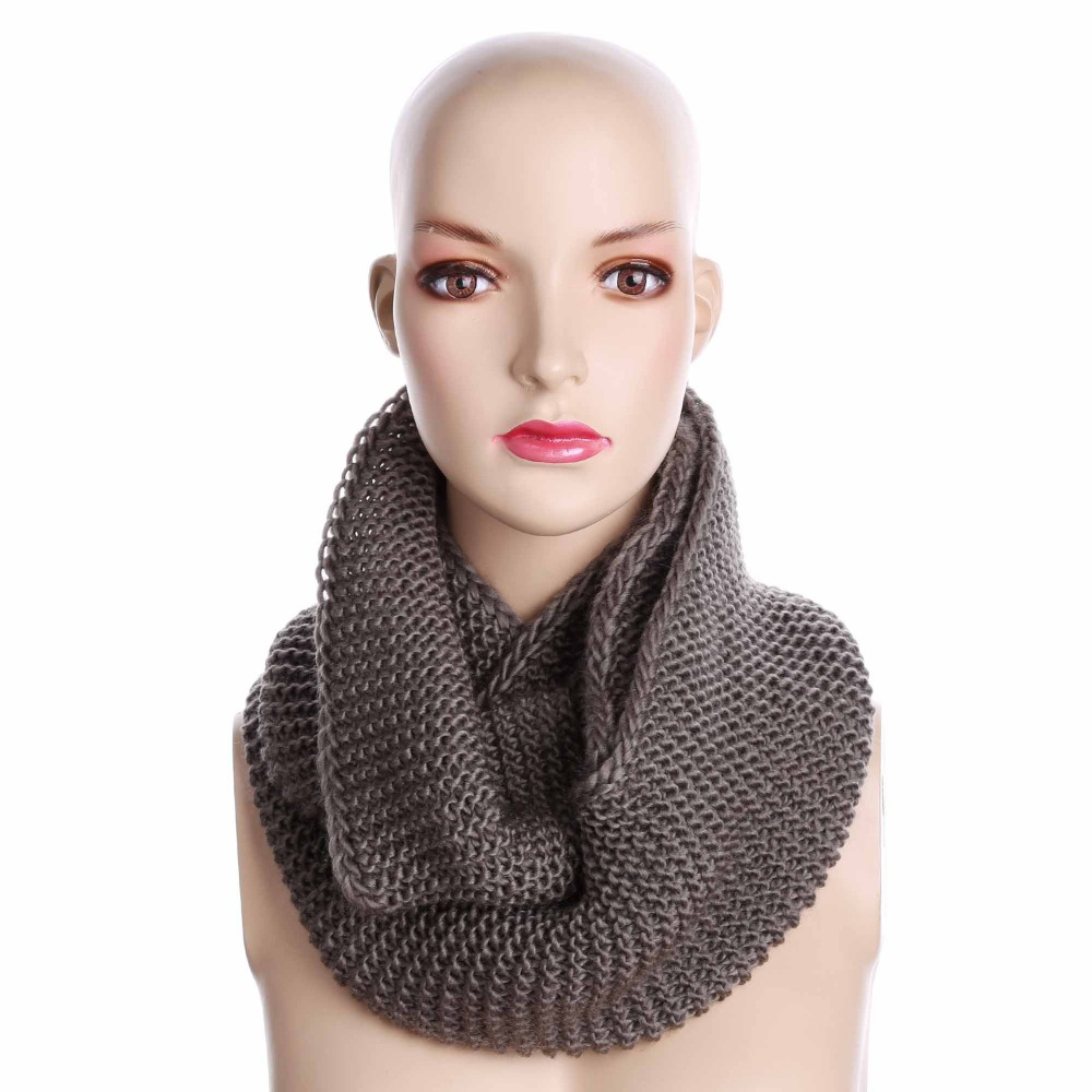Winter Soft Ring Scarf Women Knitting Infinity Scarves ...