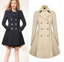 2016 Autumn and Winter Women Fashion Slim OL Trench Faux Long Design Coat Outerwear Female