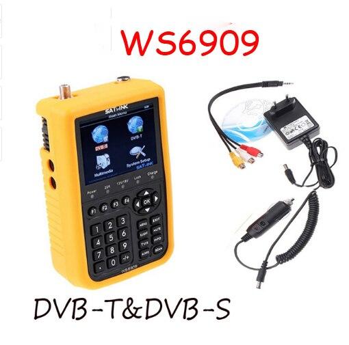 ws6909 3 5 DVB S DVB T Combo Finder WS 6909 Satellite Terrestrial Signal meter satlink