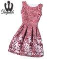 Summer Style Women Dress Sexy Cute Printed jacquard Dresses Fashion O-Neck Vestidos Ladies Cute Casual Dress