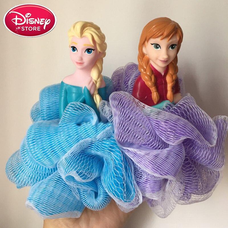Disney Frozen Elsa Anna Bath Cartoon Ball Baby Skin Care Wash Towel Shower Kids Bath Brush Sponge Disney Baby Bath Flower