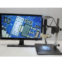 Big discount 1080P HDMI USB Industrial Digital Microscope Camera+Optical 10X-200X C-mount Lens+High Precision Fine Pitch Stent+LED Lights