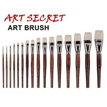 high quality paint brushes oil painting brush 3100 BRIGHTS chungking white hair long Oak wood handle
