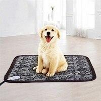 Dog Cat Electric Heating Pad Indoor Waterproof Adjustable Print Warming Pet Mat With Chew Resistant Steel