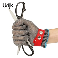 Urijk 1Pc Protective Gloves Pure Stainless Steel Wire Multifunctional Cutting Puncture Glass Scissors Knife DIY Hand