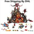 Lepin nexo caballeros axl jestros volcán lair kits de juguetes de bloques de construcción de combinación de marvel figuras compatible lepin nexus 181