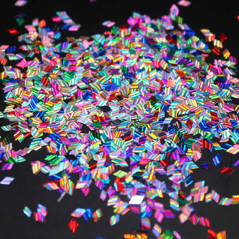 1 Pcs ขายเลเซอร์เงาเพชรรอบเลื่อม Ultrathin เล็บเคล็ดลับ Glitter UV Gel 3D เล็บตกแต่งเล็บ DIY อุปกรณ์เสริม