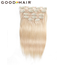 JÓ HAIR A brazil egyenes szűz hajfelvarrás az emberi hajhosszabbításokban 7 db / csíptethető a remy hajhoz RWH-6180