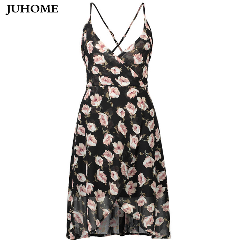2017 Summer chiffon Sundress beach tunic backless sexy casual Women clothes lady fashionable high quality robe femme tube dress