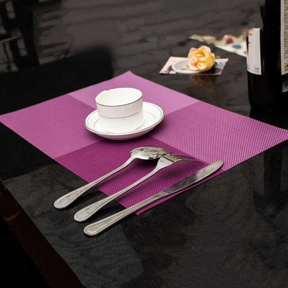 popular table placematsbuy cheap table placemats lots from china  - pcs high quality modern pvc dining table placemat tableware pad coastercoffee tea place mats kitchen