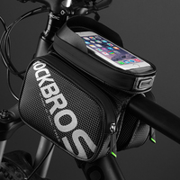 ROCKBROS 6 2 Inch Bicycle Front Frame Top Tube Bag Waterproof TPU Touch Screen MTB Road
