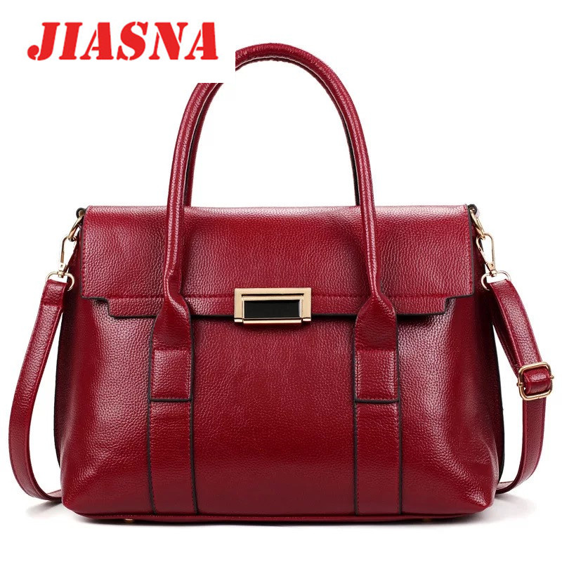 JIASNA New Women PU Soft High Quality Bag European and American Style Cover Satchels Bags Luxury Handbags Women Bags Designer