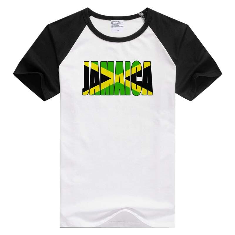 Jamaica Text Flag Caribbean short sleeve casual Men Women T-shirt Comfortable Tshirt Cool Print Tops GA884