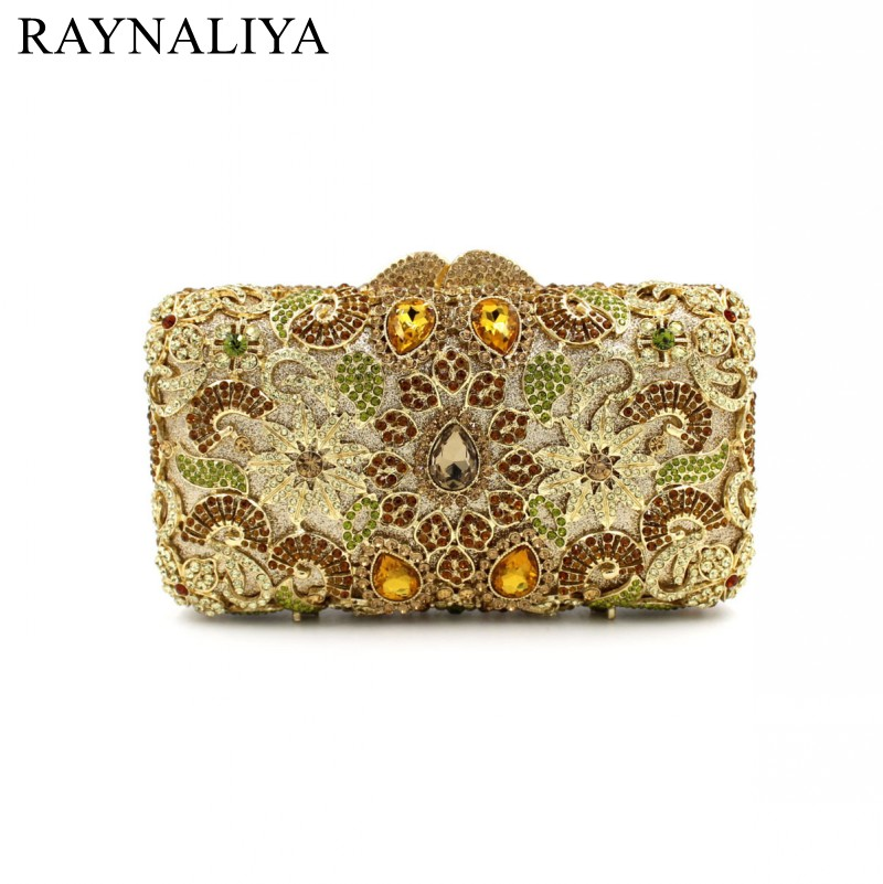 New Fashion Women Minaudiere Fashion Evening Bags Ladies Wedding Party Floral Clutch Bag Crystal Diamonds Purses Smyzh-e0122 women luxury rhinestone clutch beading evening bags ladies crystal wedding purses party bag diamonds minaudiere smyzh e0193 page 8