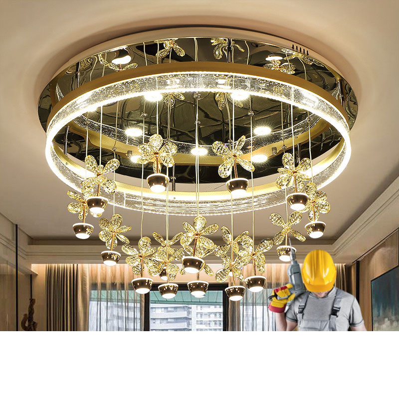 Bedroom lights simple modern circular atmosphere creative bubble column crystal lamp dining room lamp living room lamp LED lamps modern simple oval bedroom lighting living room crystal ceiling lamp creative restaurant dining room led crystal hanging lamps