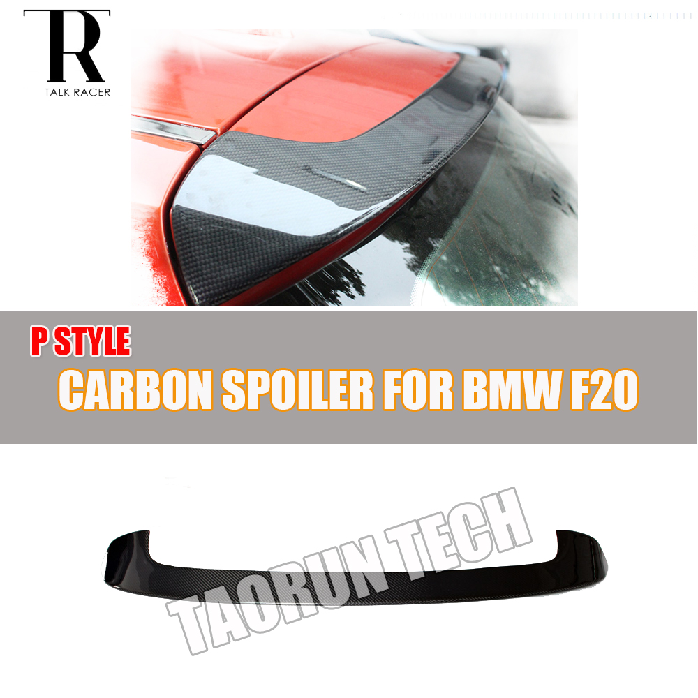 F20 Carbon Fiber Rear Roof Window Wing Spoiler for BMW F20 118i 120i 125i 128i M135i 2012 2016 P Style