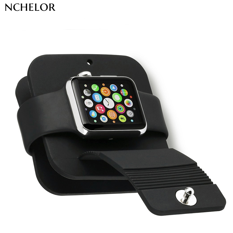 iWatch band Silicone TPU Charging Cable Winder Stand Charger Dock Holder Stand Wallet for Apple Watch Series 1 2 3 38/42mm 3pcs battery and european regulation charger with 1 cable 3 line for mjx b3 helicopter 7 4v 1800mah 25c aircraft parts