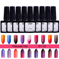 1 Bottle 10ml Temperature Change Color Nail Gel Thermal Gel Fashion Multicolor Gel Polish 18 colors available#22605