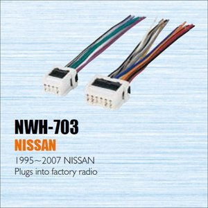 Samochód CD ODTWARZACZ DVD przewód zasilający wtyczka kabla dla Nissan 1995-2007 podłącza się do radia fabrycznego/DIN ISO kobiet