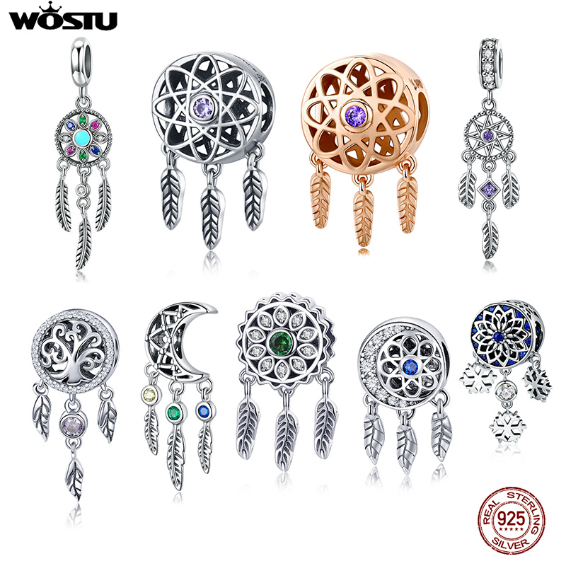 WOSTU Dream Catcher Charms-Fit Jewelry-Making Necklace-Beads Bangle Bracelet Pendant