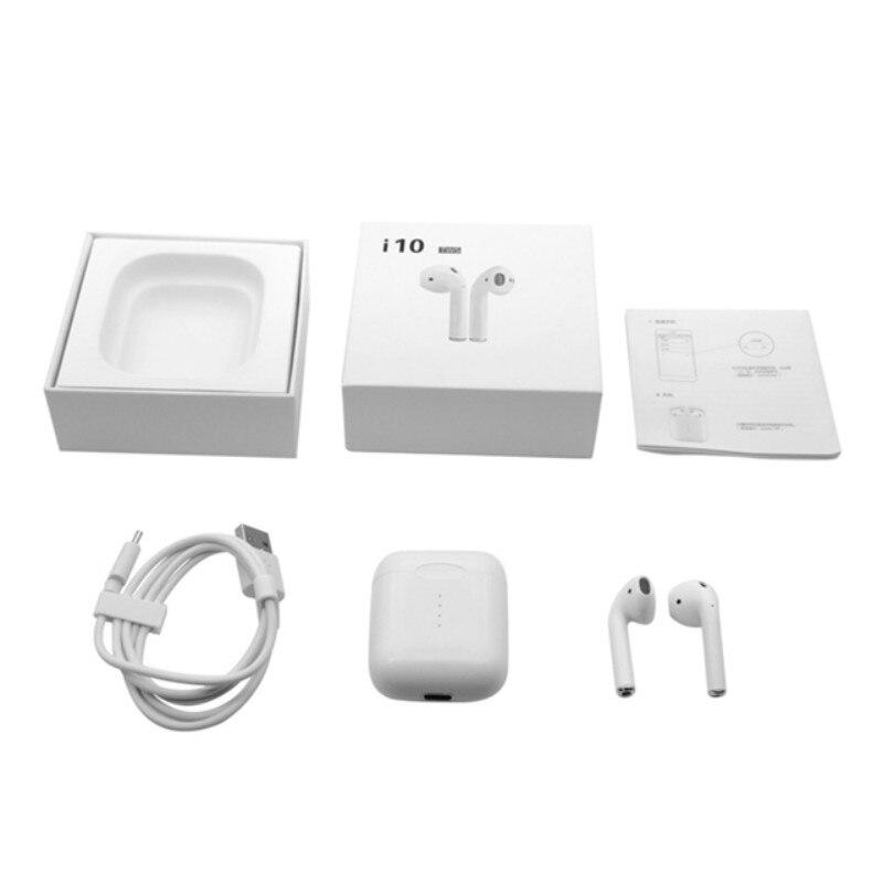 I10 tws Bluetooth i7s tws écouteur i9s écouteur sans fil i11 tws écouteurs i13 i20 i15 casque avec boîte de charge pour tous les téléphones intelligents