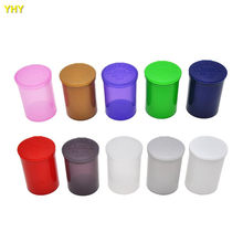5pcs /lot 19 Dram Empty Squeeze Pop Top Bottle Herb Box Pill Box case Herb Containers Airtight Storage Case Color Random(China)