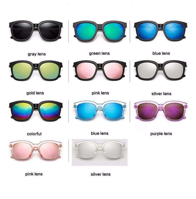 High Quality Couple Square Sunglasses Women Brand Designer Vintage Retro sun glasses for women Men Sunglass Mirror Lunette Femme (7)