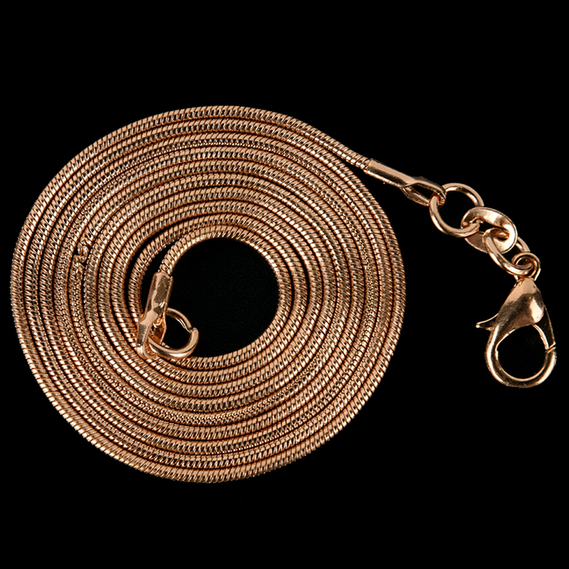 Gold 1MM 16 30in Snake Chains Clasp DIY Jewelry Making Craft Necklace for Women in Pendants from Jewelry Accessories