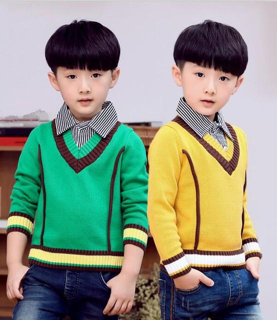 2016 de inverno das crianças roupas meninos camisolas causal cotton baby boy malha pulôver blusas para os meninos grandes crianças outerwears