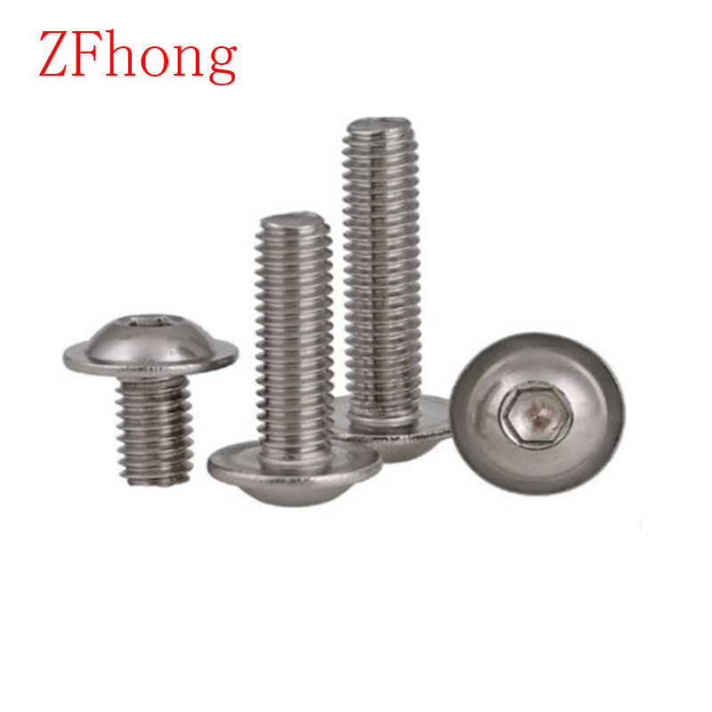 M5 Flanged Button Heads Stainless Steel Screen Bolt Kit Nuts /& Rubber Washers
