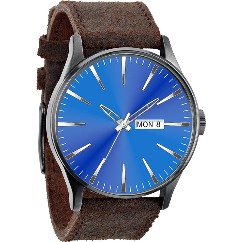 aliexpress com buy mens clock luxury design leather strap aliexpress com buy mens clock luxury design leather strap cow blue watches face simple indices from reliable watch strap suppliers on vient store