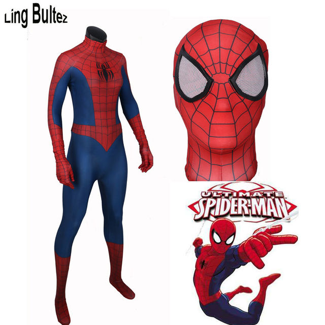 Ling Bultez High Quality Ultimate SpiderMan 3D Pattern Costume Spandex Spiderman Suit New Classic Ultimate Spiderman  sc 1 st  AliExpress.com & Ling Bultez High Quality Ultimate SpiderMan 3D Pattern Costume ...