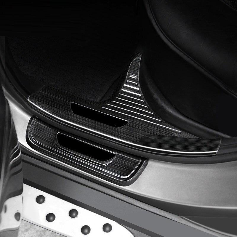 Panneaux arrière porte coffre extérieur promouvoir chrome Auto garniture couvre accessoires de décoration 10 11 12 13 14 15 16 pour Hyundai IX35