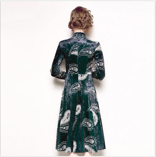 Long Femmes Longues Outwear Mince ligne 2019 Nouveau Style Casual Dame De A Impression Manches Mode Halter Robe Black Printemps Élégant YvYFqgwr