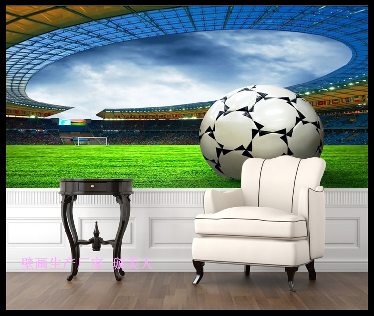 High definition football stadium 3d wallpaper murals for Definition for mural