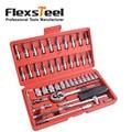 Flexsteel 46-piece CR-V conjunto de soquete com 1/4