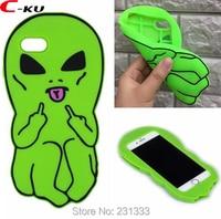 C Ku Alien 3D Cartoon Soft Silicone GEL Case For Iphone X 8 I8 7 PLUS