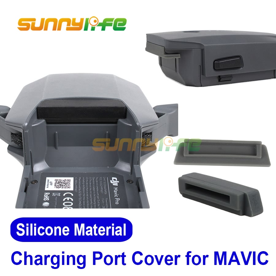 Drone Battery Charging Port Protector Silicon Plug a prueba de polvo - Cámara y foto