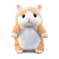 Promosyon 15 cm Güzel Talking Hamster Speak Konuşma Ses Kayıt Tekrar Dolması Peluş Hayvan Kawaii Hamster Oyuncaklar Çocuk Için @ 6205