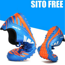 250308/3D Corrugated Texture/Men's soccer shoes / non-slip / breathable /Stereo friction/EVA rubber base