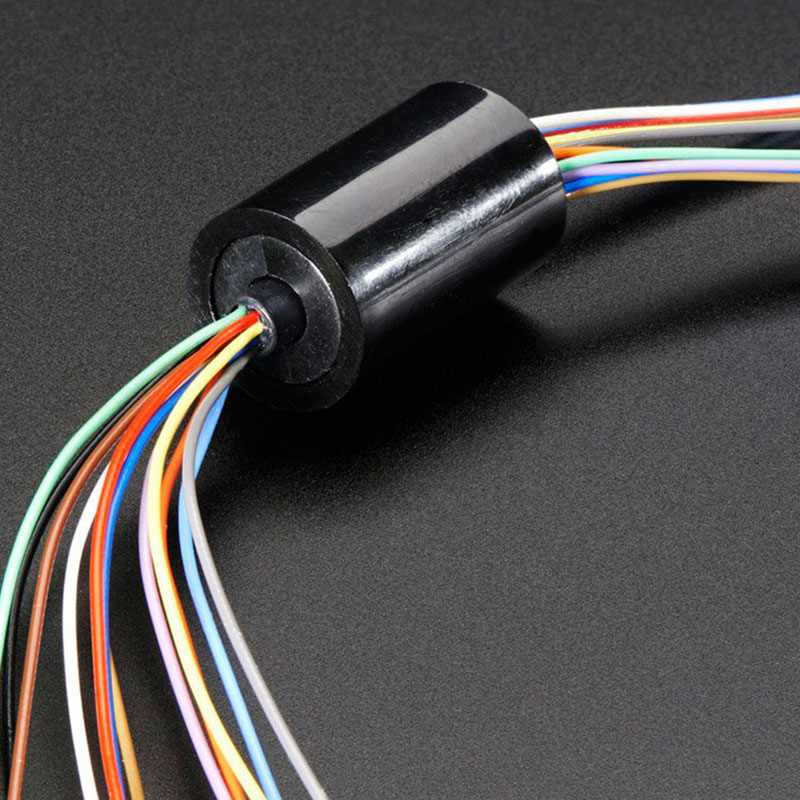 Mini Capsule Electrical Slip Ring 12.5mm 150RPM 240VDC/VAC 12 Wires Circuits 2A For Monitor Robotic (12Wires N/Flange)