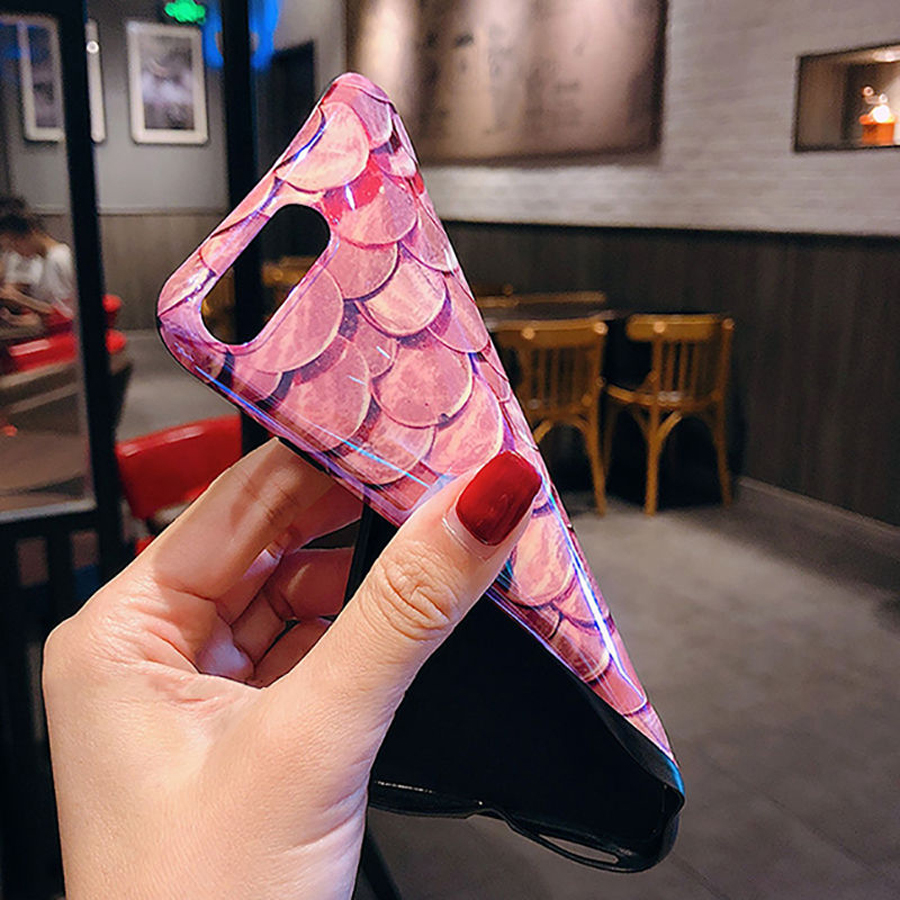 Luxury-Blu-Ray-Fish-Scales-Phone-Case-For-iPhone-6-6S-7-8-Plus-X-Fashion (3)