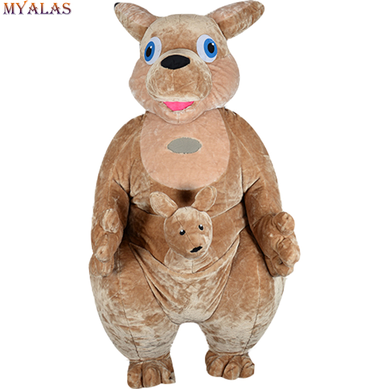 Kangaroo Mascot Costume Adult Anime Cosplay Kits Mascotte Carnival Costumes Animal inflatable Kangaroo Theme Fancy Carnival