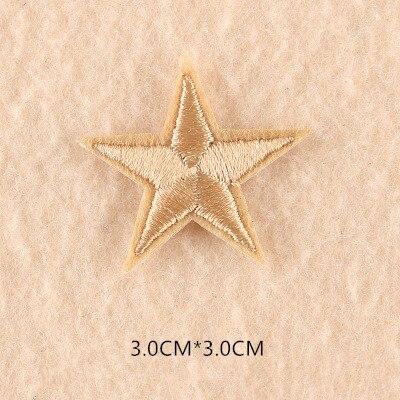 1 шт. смешанные нашивки со звездами для одежды, железная вышитая аппликация, милая нашивка эмблема на ткани, одежда, аксессуары для одежды DIY 61 - Цвет: 61J