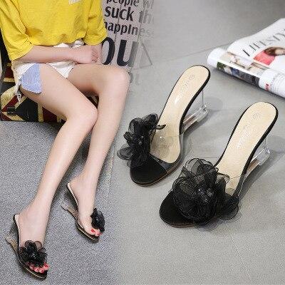 Solide pink Nouveau Coins Fleur off Black Femme Décoration Style Chaussures D'été White Adultes Sandales pxWwYP8