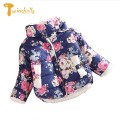 TWINSBELLA Girl Coat Frozen Winter 2017 Baby Girl Long Sleeve Flower Jacket Children Thick Warm Kids Christmas Jackets For Girls