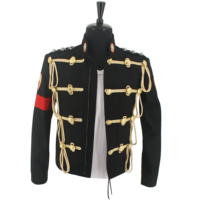 NEW MJ Michael Jackson Royal England Military Black Woolen Formal Dress Jacket Rare Gift Performance Collection