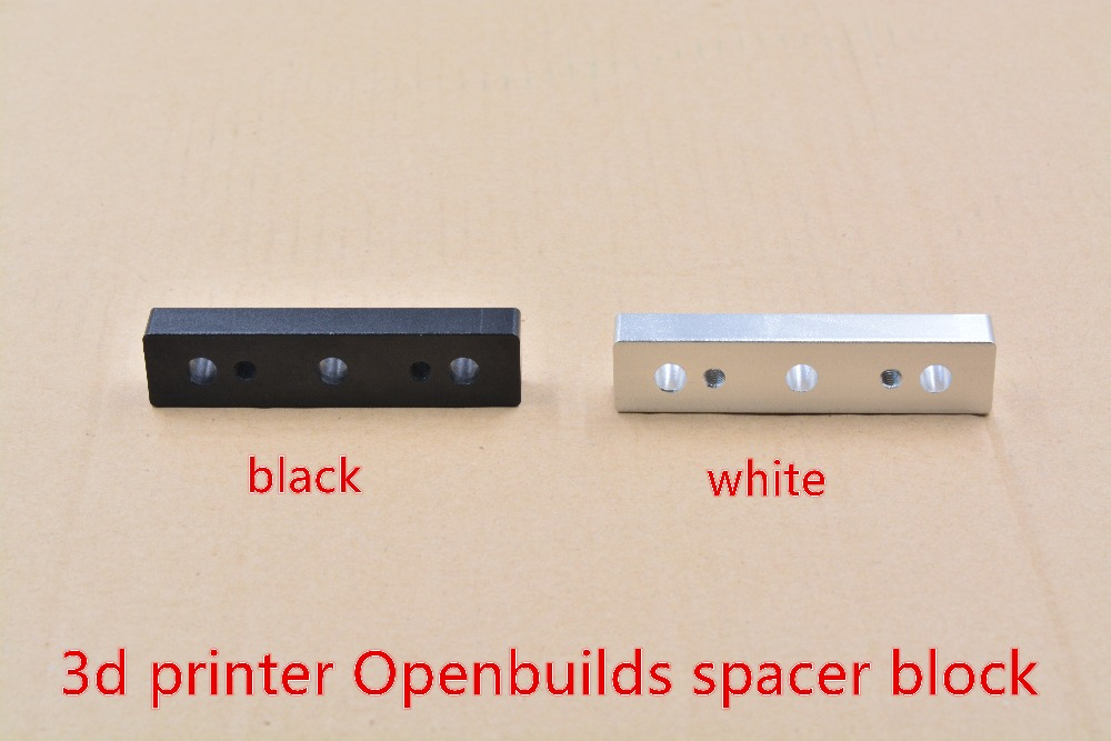 3d printer Openbuilds OX CNC machine part V slot aluminum alloy spacer block openbuilds Spacer Block for gantry pate top 1pcs3d printer Openbuilds OX CNC machine part V slot aluminum alloy spacer block openbuilds Spacer Block for gantry pate top 1pcs